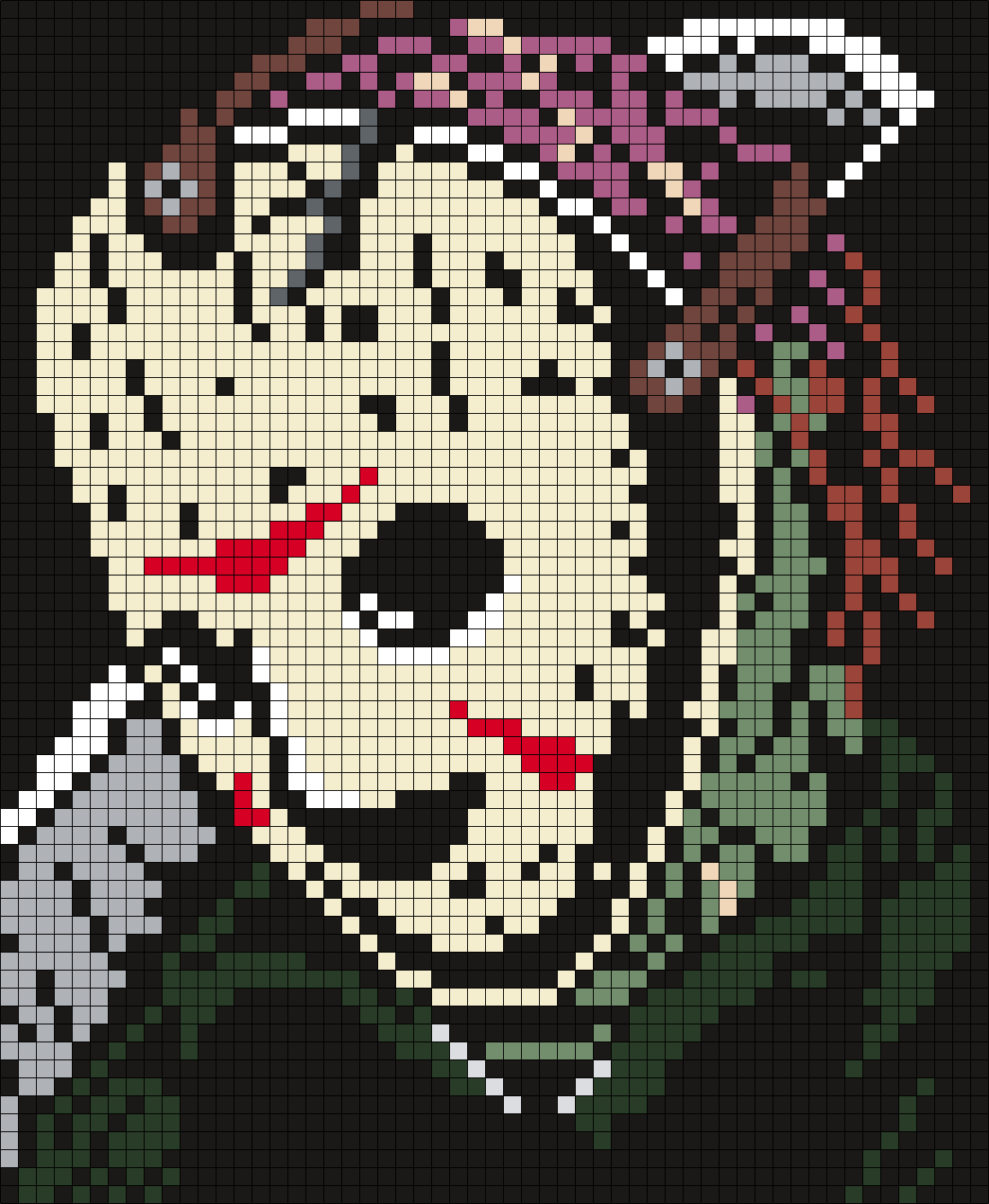 Jason Voorhees Friday The 13th Poster Square Perler