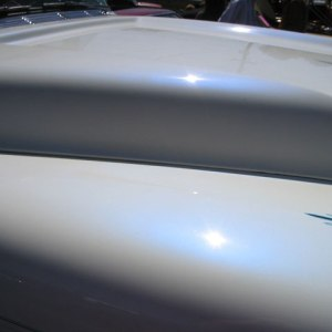 Blue Satin Spectre Pearls - Iridescent Blue Reflection