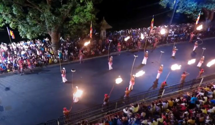 Tambourine dancers at Kandy Festival