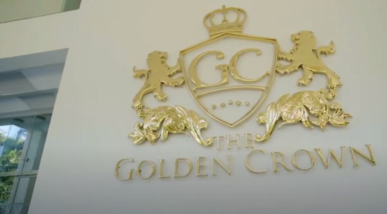 Entrance of the Golden Crown Hotel