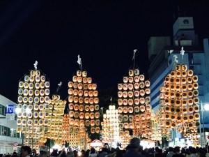 kanto  akita city  japanese lantern festival