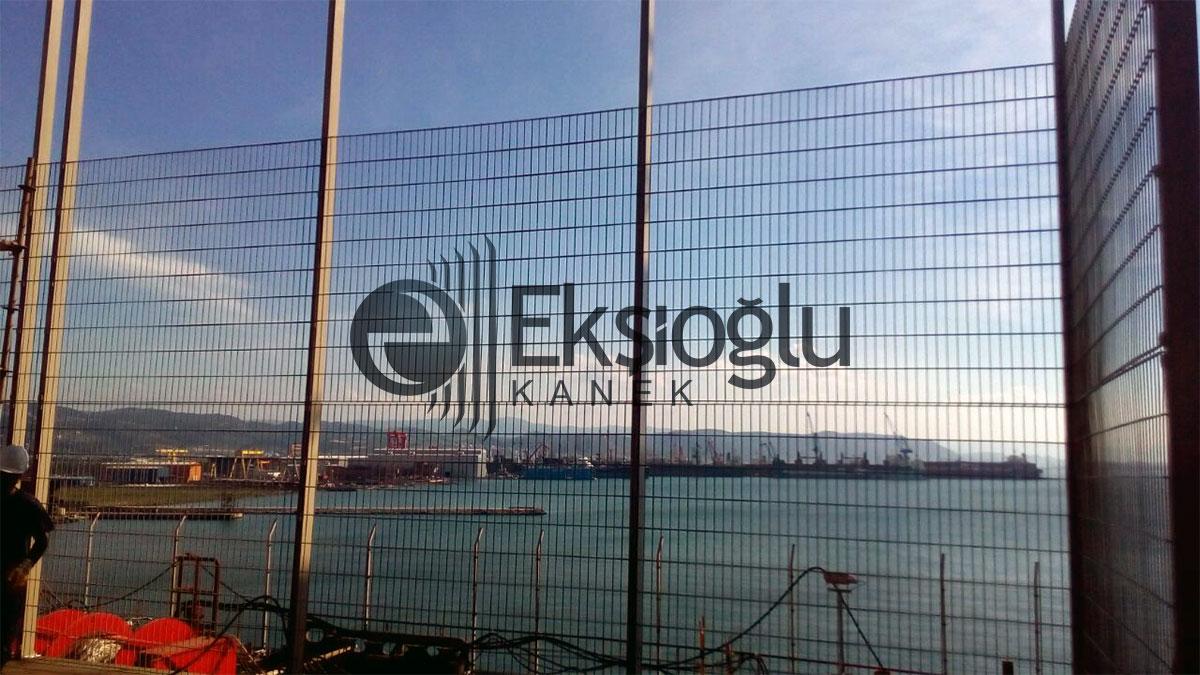 yük gemisi üzerine yüksek güvenlikli panel tel