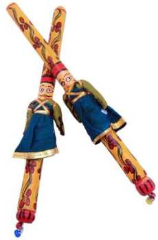 Puppet design dandiya sticks