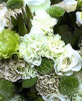 母の日、グリーンの花で
