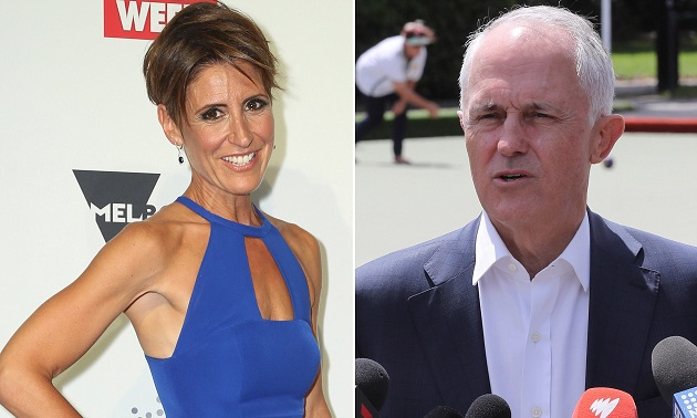 Emma Alberici and Malcolm Turnbull