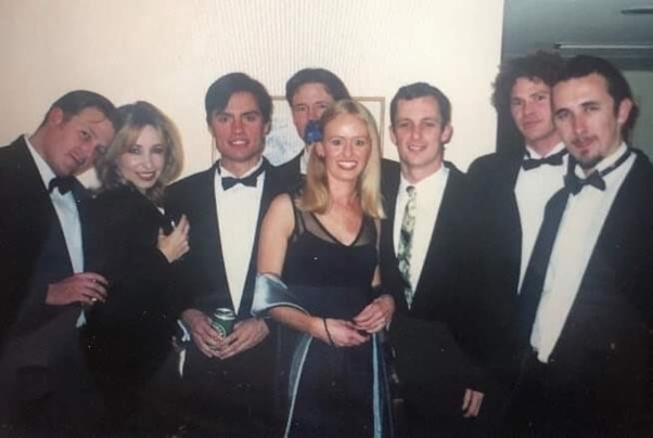 Christian Porter (on far left) and Peter van Onselen (Third from right) At University in WA