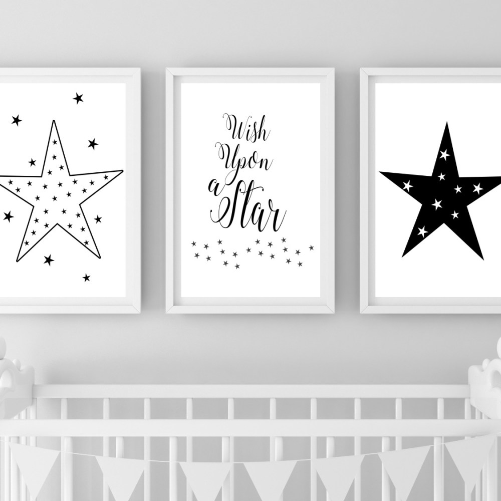 Wish Upon A Star Nursery Print Set