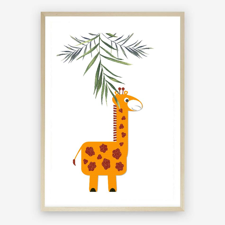 Giraffe Digital Nursery Print