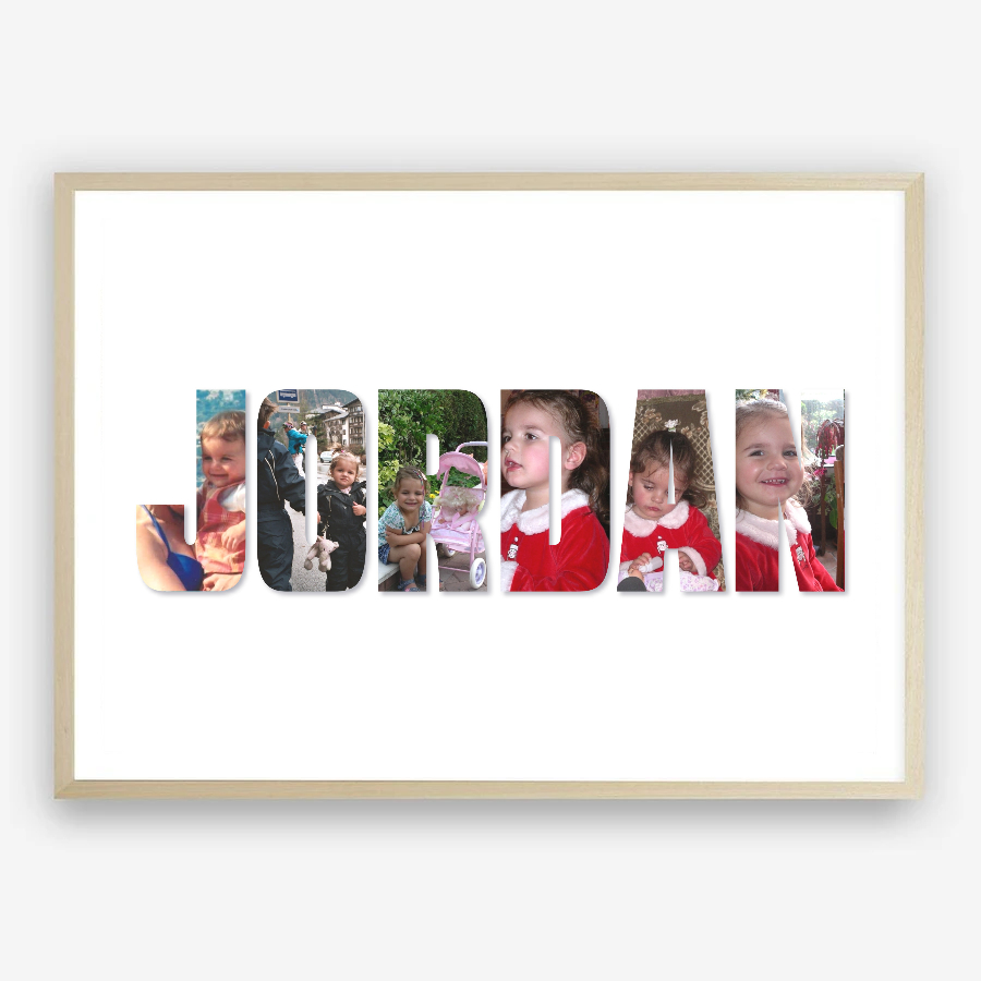 Personalised Name Photo Collage Print