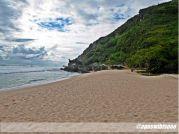 pemandangan di pantai pok tunggal jogja