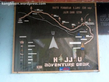 peta jalur pendakian gunung lawu dari cetho