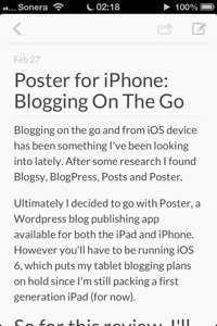 screenshot of poster for iPhone