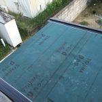 増築屋根接続部分の防水施工