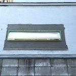 キッチン窓の外部モルタル下塗り