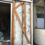 1階北部屋の外壁断熱材仕込み