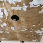 1北部屋天井調整とダウンライト配線と設置