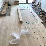 床フローリング材の施工⑤