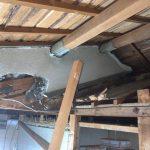 旧屋根と外壁の解体
