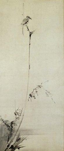 宮本武蔵筆 枯木鳴鵙図 和泉市久保惣記念美術館蔵