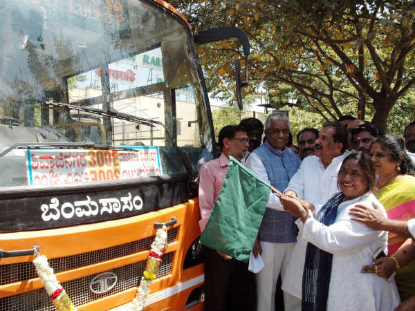 Mini mus from Banaswadi rly station to Shivajinagar