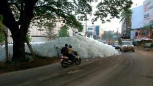 Bangalore's Bellandur lake catches fire