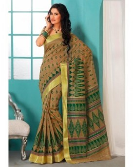 Cotton printed saris