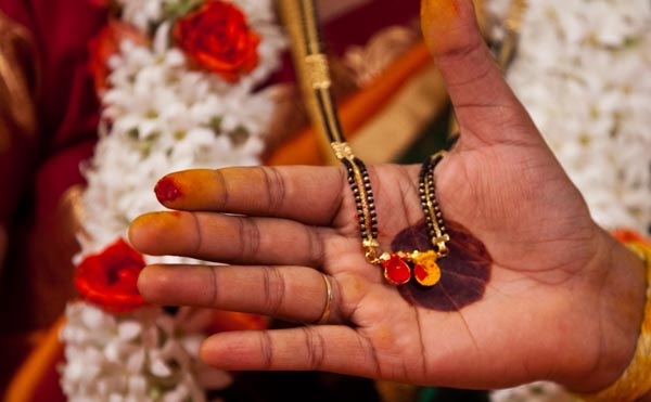 Image result for mangalsutra wearing