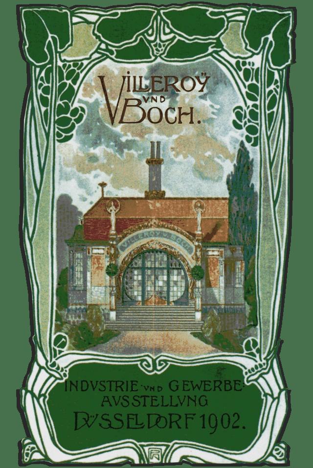 Villeroy & Boch Majolikahäuschen Industrie und Gewerbe Ausstellung Düsseldorf 1902 Art Nouveau Jugendstil Architektur