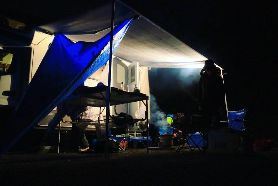 キャンピングカーで車中泊とキャンプ飯 旅行 十二坊オートキャンプ場 キャンピングカーレンタル滋賀