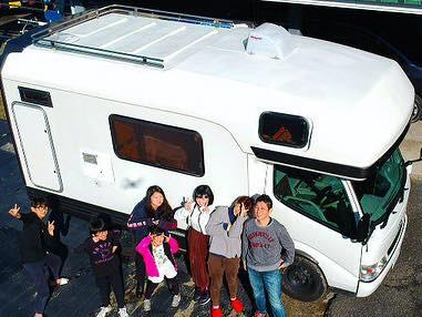 キャンピングカーレンタル滋賀でキャンピングカーを借りて家族旅行とドローン空撮で記念写真