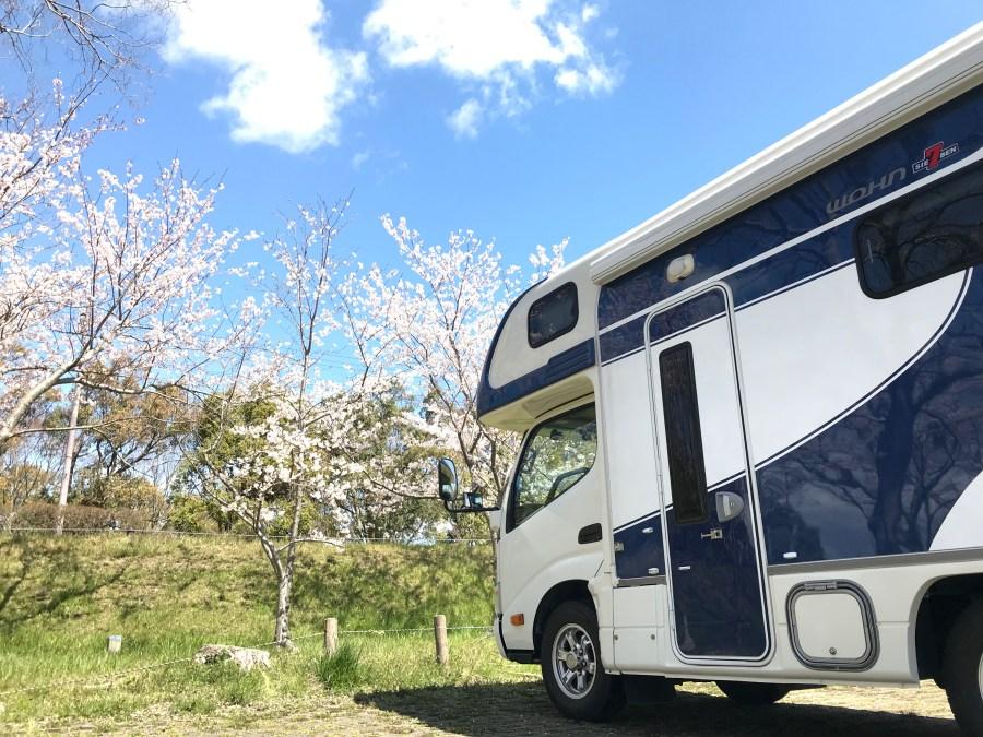 キャンピングカーで琵琶湖湖岸道路をビワイチ 桜の隠れた名所をお花見ドライブ 滋賀県長浜市のキャンピングカーレンタル滋賀