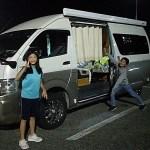 バンコンハイエースキャンピングカー ナッツRVラディッシュ4WD 滋賀県長浜市のキャンピングカーレンタル滋賀 カノアカーレンタル