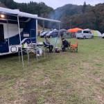 キャンプ場でBBQ 東和モータースヴォーンR2B 滋賀県長浜市のキャンピングカーレンタル滋賀 カノアカーレンタル