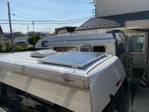 150W キャンピングカーにソーラーパネル取り付け ハイエースバンコン キャンピングカーレンタル滋賀カノアカーレンタル