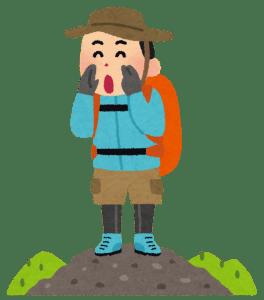 滋賀県の高島トレイル 登山者