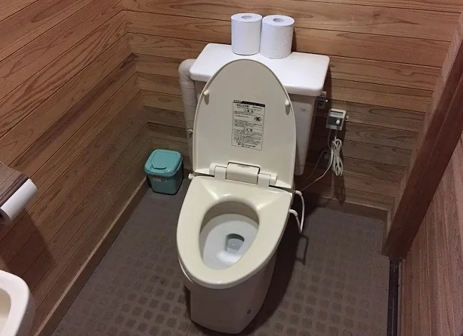 月山あさひサンチュアパークの管理棟のトイレ