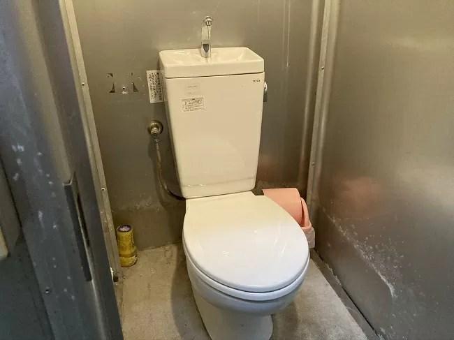富士オートキャンプ場ふもと村のトイレ