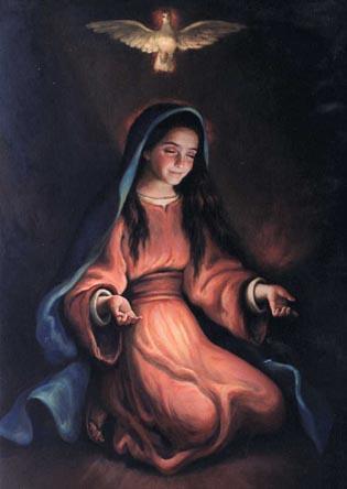 Maria accoglie lo Spirito Santo
