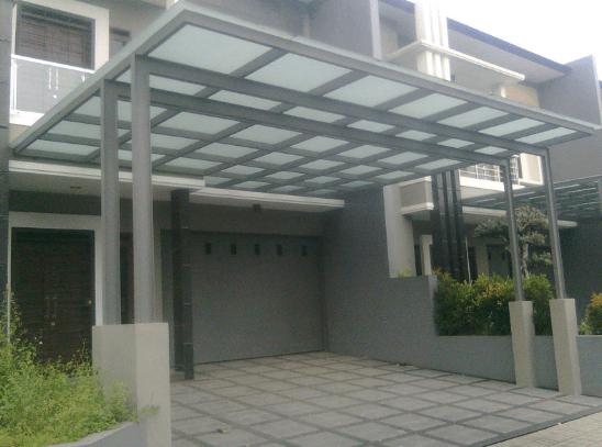 Jasa Kanopi Rangka atau Tiang Besi WF Alam Sutera Tangerang