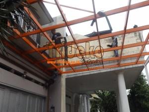Pasang Rangka Canopy Kaca