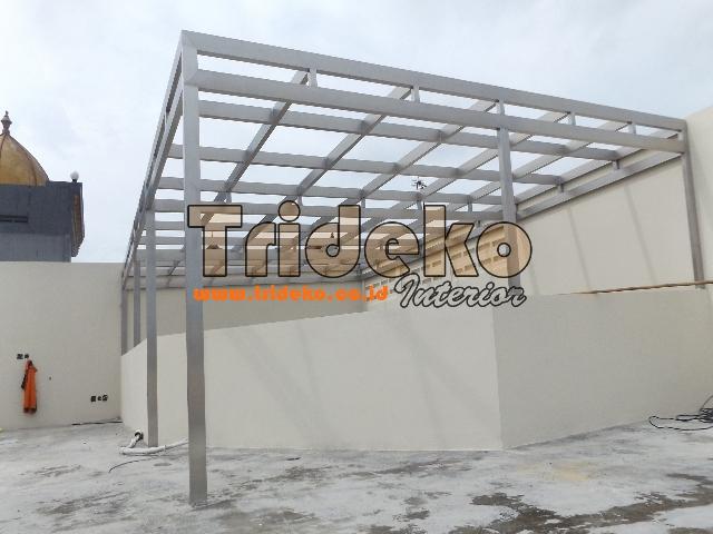 Pasang Rangka Canopy Kaca Stainlees Steel di BSD