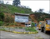 23 - Dirección,a pie,a la entrada del Bosque Petrificado Puyango - ruta E25 Arenillas-Alamor (Ecuador,enero 2013)
