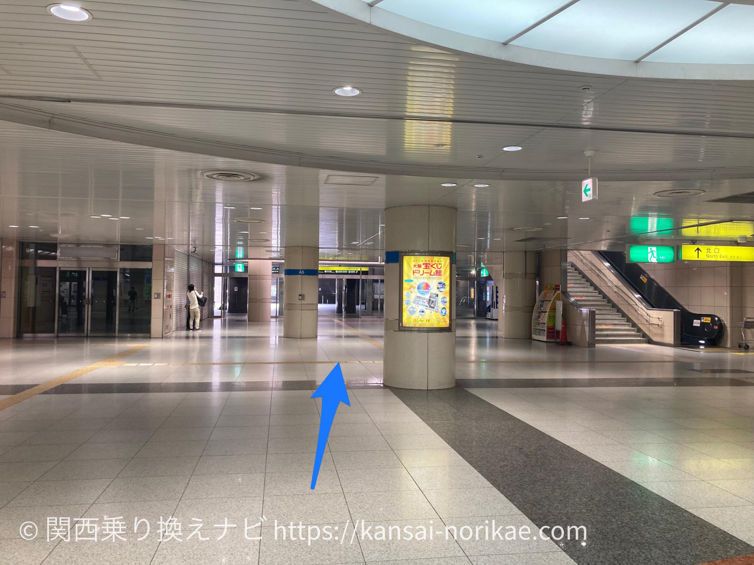 JR難波から大阪難波1