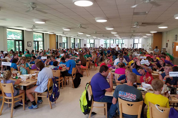 Meal time at Williams Dining Hall