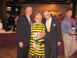 Dave Webb - Apiary owner, Carol Stricker - Queen Bee, Steve Proffitt - Victim
