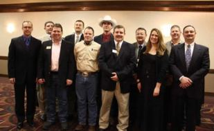 Kevin Borger, Eric Blomquist, Robert Haley, Bill Eberhardt, John Kisner, Byron Bina, Andy Conser, Jack Newcom, Megan McCurdy, Kevin Ediger, Lance Fullerton. Andy is the President, Jack the President Elect and Lance the Vice President
