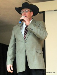 Justin Banzhaf competing in the 2016 Kansas Auctioneer Preliminaries.