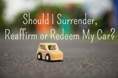 Should I Reaffirm My Vehicle Loan?