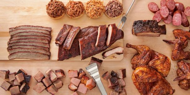 Best BBQ restaurants in Kansas City - table of assorted smoked meats