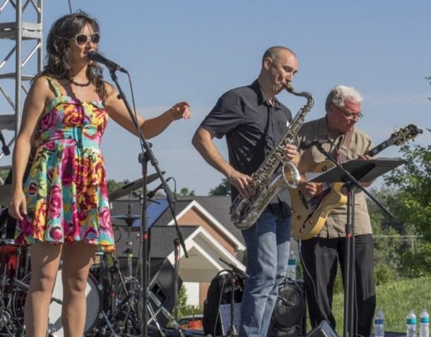 Prairie Village Jazz Fest - musicians performing on stage